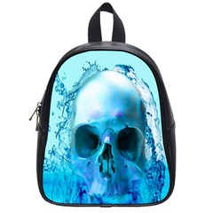 Skull In Water School Bag (small) by icarusismartdesigns