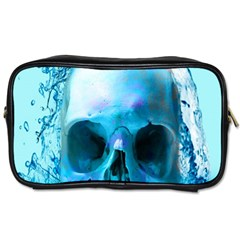 Skull In Water Travel Toiletry Bag (two Sides) by icarusismartdesigns