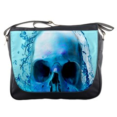 Skull In Water Messenger Bag by icarusismartdesigns