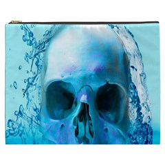 Skull In Water Cosmetic Bag (xxxl) by icarusismartdesigns