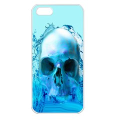 Skull In Water Apple Iphone 5 Seamless Case (white)