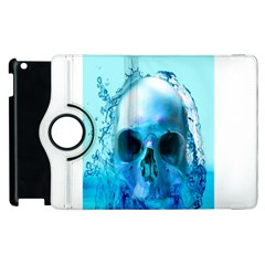 Skull In Water Apple Ipad 3/4 Flip 360 Case by icarusismartdesigns