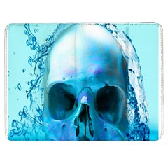 Skull In Water Samsung Galaxy Tab 7  P1000 Flip Case by icarusismartdesigns