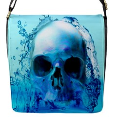 Skull In Water Flap Closure Messenger Bag (small) by icarusismartdesigns