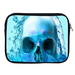 Skull In Water Apple Ipad Zippered Sleeve by icarusismartdesigns