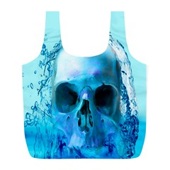 Skull In Water Reusable Bag (l) by icarusismartdesigns