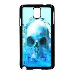 Skull In Water Samsung Galaxy Note 3 Neo Hardshell Case (black) by icarusismartdesigns