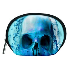 Skull In Water Accessory Pouch (medium) by icarusismartdesigns