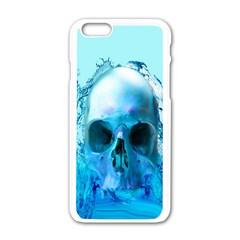 Skull In Water Apple Iphone 6 White Enamel Case by icarusismartdesigns