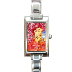 Tears Of Blood Rectangular Italian Charm Watch by icarusismartdesigns