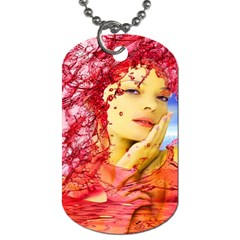Tears Of Blood Dog Tag (two Sided)  by icarusismartdesigns