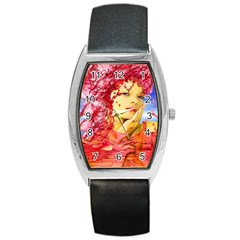 Tears Of Blood Tonneau Leather Watch by icarusismartdesigns