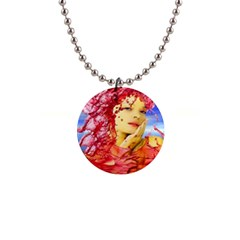 Tears Of Blood Button Necklace
