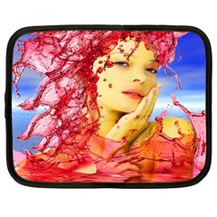 Tears Of Blood Netbook Sleeve (large) by icarusismartdesigns