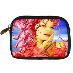 Tears Of Blood Digital Camera Leather Case by icarusismartdesigns
