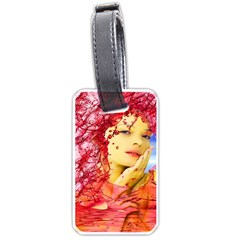 Tears Of Blood Luggage Tag (one Side) by icarusismartdesigns