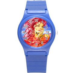 Tears Of Blood Plastic Sport Watch (small) by icarusismartdesigns
