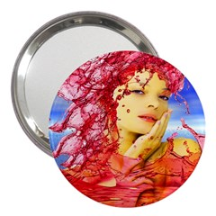 Tears Of Blood 3  Handbag Mirror by icarusismartdesigns