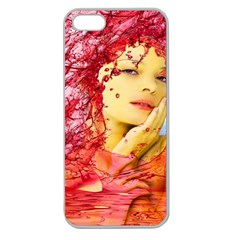Tears Of Blood Apple Seamless Iphone 5 Case (clear) by icarusismartdesigns