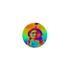 Sitting Bull 1  Mini Button by icarusismartdesigns