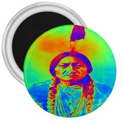 Sitting Bull 3  Button Magnet by icarusismartdesigns