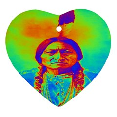 Sitting Bull Heart Ornament by icarusismartdesigns