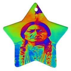 Sitting Bull Star Ornament by icarusismartdesigns
