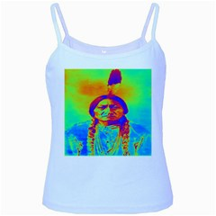 Sitting Bull Baby Blue Spaghetti Tank by icarusismartdesigns