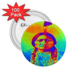 Sitting Bull 2 25  Button (100 Pack) by icarusismartdesigns
