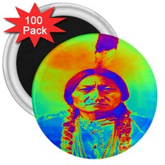 Sitting Bull 3  Button Magnet (100 Pack) by icarusismartdesigns