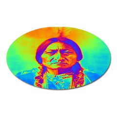 Sitting Bull Magnet (oval) by icarusismartdesigns