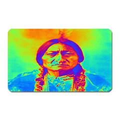 Sitting Bull Magnet (rectangular) by icarusismartdesigns