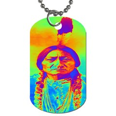 Sitting Bull Dog Tag (two Sided)  by icarusismartdesigns