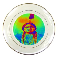 Sitting Bull Porcelain Display Plate by icarusismartdesigns