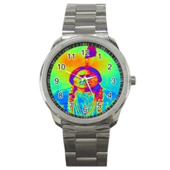 Sitting Bull Sport Metal Watch by icarusismartdesigns