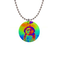 Sitting Bull Button Necklace by icarusismartdesigns