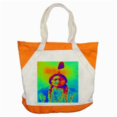 Sitting Bull Accent Tote Bag by icarusismartdesigns