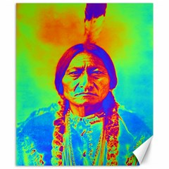 Sitting Bull Canvas 8  X 10  (unframed) by icarusismartdesigns