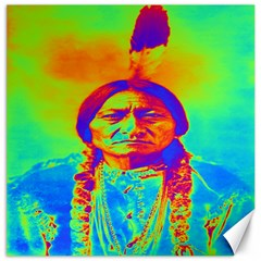 Sitting Bull Canvas 20  X 20  (unframed) by icarusismartdesigns