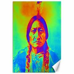 Sitting Bull Canvas 20  X 30  (unframed) by icarusismartdesigns