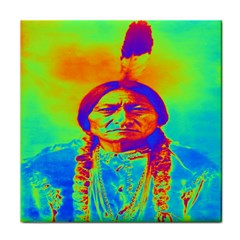 Sitting Bull Face Towel by icarusismartdesigns