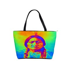 Sitting Bull Large Shoulder Bag by icarusismartdesigns