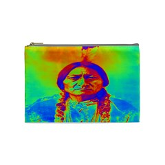 Sitting Bull Cosmetic Bag (medium) by icarusismartdesigns