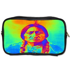 Sitting Bull Travel Toiletry Bag (two Sides) by icarusismartdesigns
