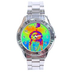 Sitting Bull Stainless Steel Watch by icarusismartdesigns