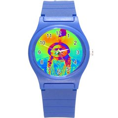 Sitting Bull Plastic Sport Watch (small) by icarusismartdesigns