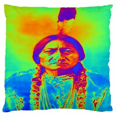 Sitting Bull Large Cushion Case (two Sided)  by icarusismartdesigns