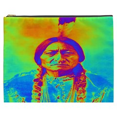 Sitting Bull Cosmetic Bag (xxxl) by icarusismartdesigns