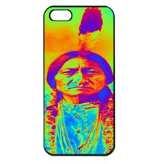 Sitting Bull Apple Iphone 5 Seamless Case (black) by icarusismartdesigns