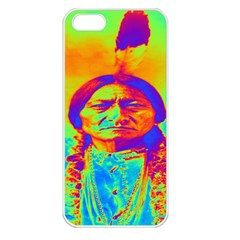 Sitting Bull Apple Iphone 5 Seamless Case (white) by icarusismartdesigns
